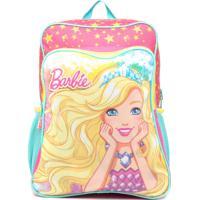 Mochila Sestini G Com Bolso Barbie 19M Plus Rosa