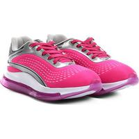 Tênis Infantil Kurz Jogging Perfuros - Masculino-Pink+Prata