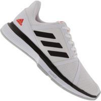 Tênis Adidas Courtjam Bounce - Masculino - Branco/Preto