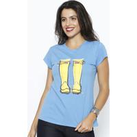 Camiseta Botas - Azul & Amarelaclub Polo Collection