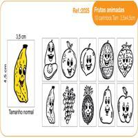 Carimbos Pedagógicos Frutas Animadas - Fundamental - Kanui