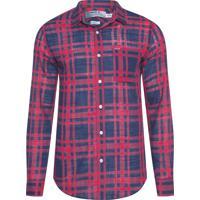 Camisa Masculina Xadrez Rústica Navy - Vermelho b3145551ef556