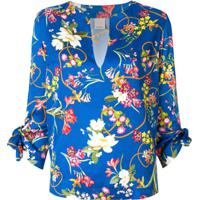 Pinko Blusa Com Estampa Floral - Azul
