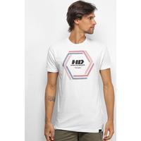Camiseta Hd Long Vortex Masculina - Masculino-Branco