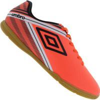 Chuteira Futsal Umbro Drako Ic - Adulto - Coral/Preto