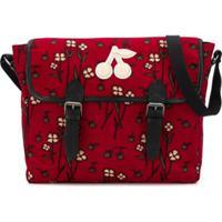 Bonpoint Bolsa Transversal Com Estampa Floral - Vermelho