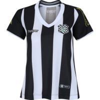 Camisa Do Figueirense I 2018 Topper - Feminina - Preto/Branco