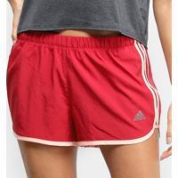 Short Adidas Marathon 20 Feminino - Feminino-Vermelho+Rosa