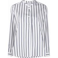 Aspesi Camisa De Algodão Com Listras - Branco