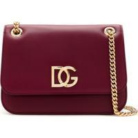 Dolce & Gabbana Bolsa Millenials Com Logo - Vermelho