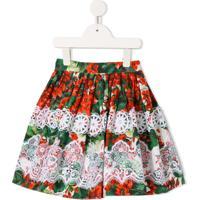 Dolce & Gabbana Kids Saia Com Estampa Floral - Estampado