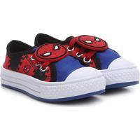 Tênis Infantil Marvel Patch Homem Aranha Masculino - Masculino-Vermelho+Azul