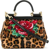 Dolce & Gabbana Bolsa Transversal Leo & Rose - Marrom