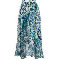 Twin-Set Paisley Print Maxi Skirt - Azul