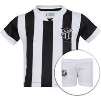 Kit De Uniforme De Futebol Do Ceará Para Bebê  Camisa + Calção - Infantil - e3f9a6c522b4a