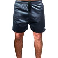 Shorts Esportivo Futebol Academia Com Bolso Traseiro E Bordado Ref.0334