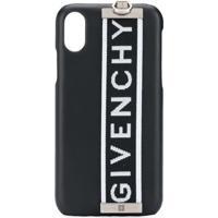 Givenchy Capa Para Iphone X Com Logo - Preto