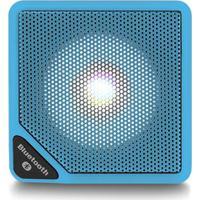 Caixa De Som Cubo Speaker Com 3W Luz De Led Conexão Usb Bluetooth Aux Entrada Cartão Micro Sd Azul Multilaser Sp308