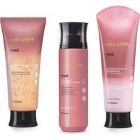 Combo Nativa Spa Rosé: Sabonete Líquido Corporal, 175 Ml + Body Splash, 200 Ml + Loção Revitalizante Corporal, 200 Ml