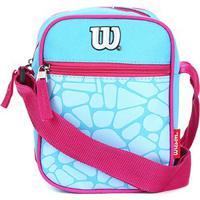 Bolsa Wilson Shoulder Bag Croco - Feminino-Azul+Rosa