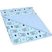 Manta Bebê Masculina Malha Dupla Face Azul Urso Na Nuvem - Bambi - Tamanho Único - Azul