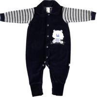 Macacão Infantil Para Menino - Azul Marinho