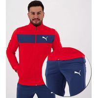 Agasalho Puma Techstripe Tricot Suit Masculino - Masculino-Vermelho