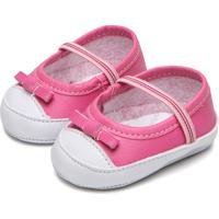 Sapato Pimpolho Menina Laço Rosa