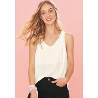 Blusa Branco Viscose Com Lurex Enfim