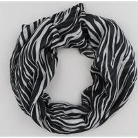Lenço Feminino Estampado Animal Print Preto - Único