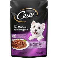 Ração Para Cão Cesar Adulto Sabor Filé Mignon 85G