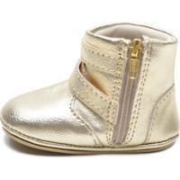 Sapatinho Infantil Sw Shoes Linha Bebe Dourado