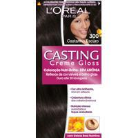 Coloração Permanente Casting Creme Gloss N° 300 Castanho Escuro L'Oréal 1 Unidade