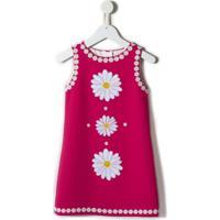 Dolce & Gabbana Kids Vestido Com Aplicação - Rosa