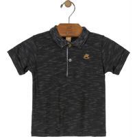 Camisa Polo Infantil Cinza