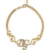 Dolce & Gabbana Pulseira Com Corrente Dg - Dourado