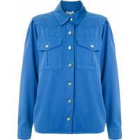 Nk Camisa Gig Em Sarja - Azul