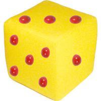 Cubo Com Relevo - Amarelo & Vermelho- 30X30X30Cm