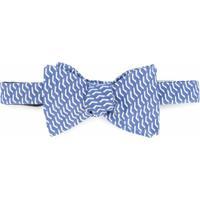 Gieves & Hawkes Gravata Borboleta De Seda Estampada - Azul