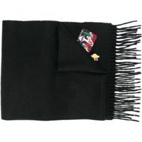 Ps Paul Smith Cachecol Com Detalhe De Patches - Preto