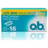 Absorvente Interno O.B Procomfort Médio 16 Unidades