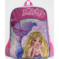 Mochila Barbie Sereia Infantil Média Luxcel Rosa (Rosa, M)