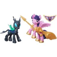 Figuras My Little Pony - Bem Vs Mal - Twilight Sparkle E Changeling - Hasbro - Feminino