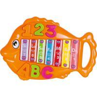 Xilofone Art Brink Peixe Musical Educativo - 839697 Laranja