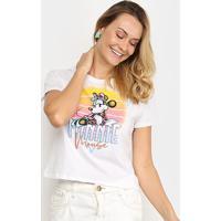 Blusa Cativa Disney Minnie Feminina - Feminino-Branco