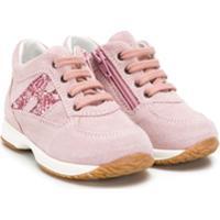 Hogan Kids Interactive Sneakers - Rosa
