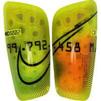 Caneleira De Futebol Nike Series Mercurial Lite - Adulto - Amarelo Fluor/Preto