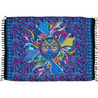Canga Shopping Bali Mandala Coruja - Feminino-Azul Escuro