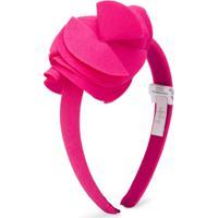 Il Gufo Headband Com Aplicação Floral - Rosa