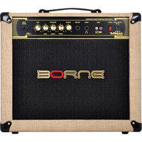 Amplificador Para Guitarra Borne Vorax 1050 Palha 50W Rms 10 Pol